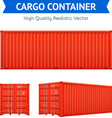 Cargo Freight Container vector image vector image