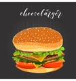 cheeseburger fast food vector image