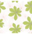 chestnut leaf seamless pattern vector image vector image
