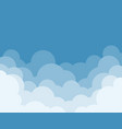 cloud with sky design vector image vector image