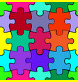 colorful puzzle seamless pattern background vector image