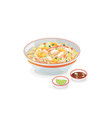 crab fried rice vector image vector image