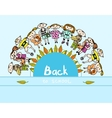 Decorative back to school kids background vector image vector image