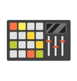 Dj music equipment icon vector image vector image