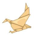eagle origami icon cartoon style vector image vector image