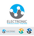 electronic and technology logo design vector image vector image