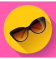 fashionable trendy woman sunglasses on a colorful vector image vector image