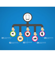 Flat business infographic concept design vector image vector image
