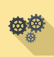 gear cog icon flat style vector image