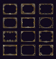 Golden art deco frames modern gold elegant