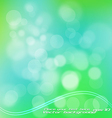 green bokeh vector image