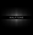 halftone gradient texture frame background vector image vector image