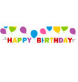 happy birthday banner background vector image