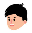 happy boy head with cute hairstyle vector image