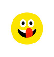 happy face smiling emoji with open mouth funny vector image
