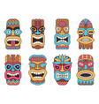 hawaiian tiki god tribal totem vector image vector image