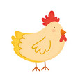 hen poultry farm animal isolated icon on white vector image vector image