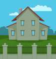 House With Fence vector image