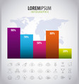infographics statistics diagram vector image vector image