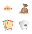 Jack sweat a bag with money won cards for