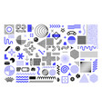 memphis geometric shapes abstract graphic figures vector image vector image
