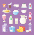 milk everyday products vector image vector image