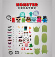 monster custom generator kit vector image vector image