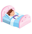 of kid sleeping vector image