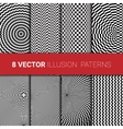Optical backgrounds set vector image vector image