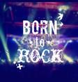 phrase rocknroll poster vector image vector image