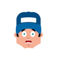 plumber scared emotion avatar fitter fear emoji vector image vector image