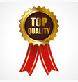 premium golden badge vector image