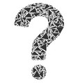 question collage of triangles vector image vector image