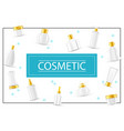 realistic cosmetic products concept vector image