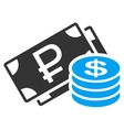 Rouble And Dollar Cash Icon vector image