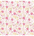 seamless cute little flower pattern vector image vector image
