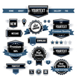 Set of retro labels vector | Price: 1 Credit (USD $1)
