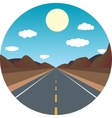 straight road ahead in the afternoon in the vector image vector image