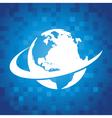 Swoosh Globe Icon vector image vector image