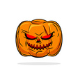 Terrible pumpkin Halloween symbol Vegetables on a vector image vector image