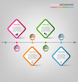 Time line info graphic with colored pointers vector image vector image