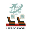 travel or airplane trip and world voyage vector image vector image