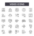 video line icons signs set linear vector image vector image
