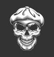 vintage irish skull in tweed cap vector image vector image