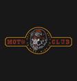 vintage moto club colorful label vector image vector image