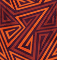 warm color tribal seamless pattern with grunge vector image vector image
