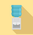 water cooler icon flat style vector image