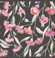 Watercolor eucalyptus pattern