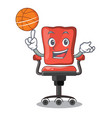 with basketball character office desk chair in vector image