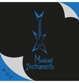 Musical instruments shop sign with guitar vector image